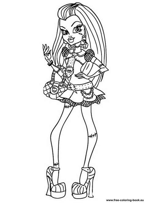 Coloring pages Monster High - Page 1 - Printable Coloring