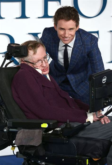 Stephen Hawking and Eddie Redmayne attend The Theory Of