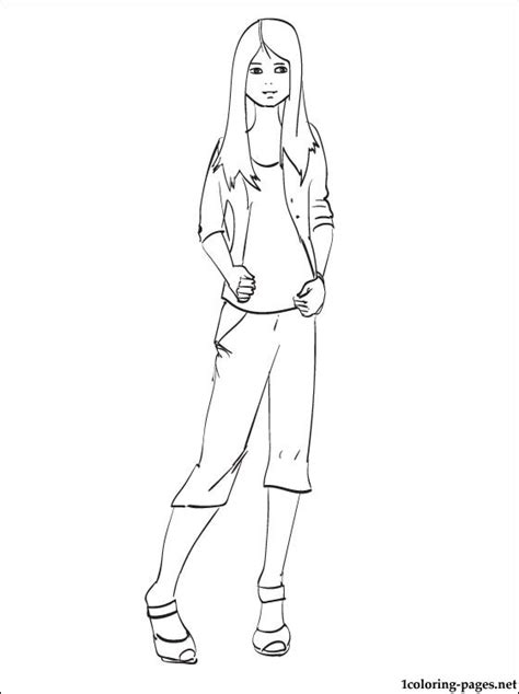 Selena Gomez line drawing to color | Coloring pages