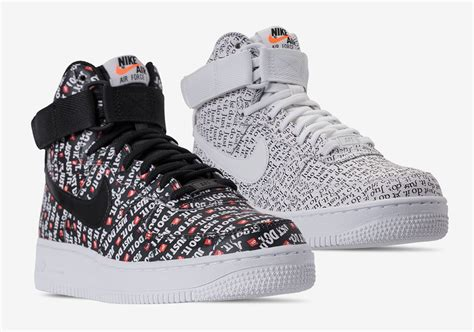 """Nike Air Force 1 High """"Just Do It"""" Pack Releases On June"""