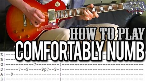 Pink Floyd - Comfortably Numb Solo Guitar Lesson (WITH TAB