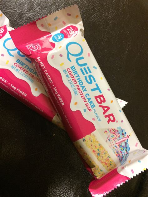 Quest Bar Birthday Cake reviews in Protein Bars - XY Stuff
