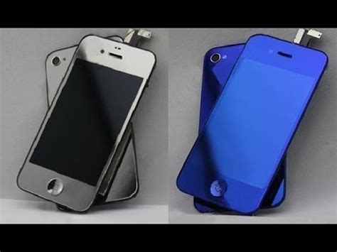 iPhone 4S Color Conversion Blue & Chrome iPhone 4S Display