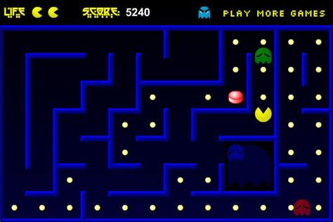 Pacman Advanced game - FunnyGames
