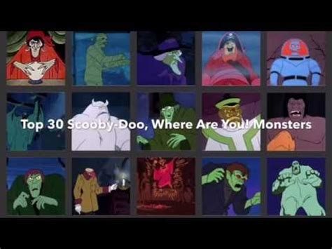Top 30 Scooby-Doo, Where Are You! Monsters - YouTube