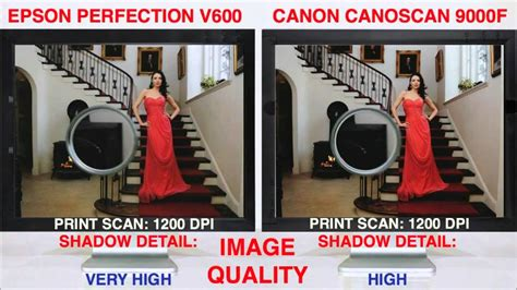 Perfection V600 vs CanoScan 9000f Scan Off - YouTube