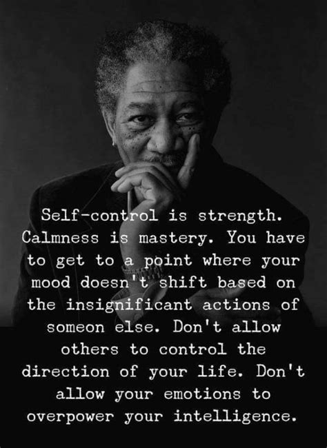 Self-control is strength