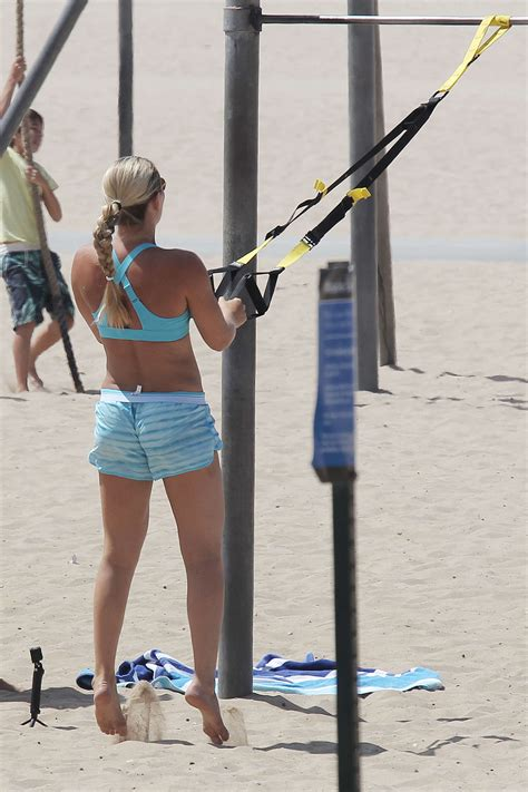 Lindsey Vonn in Shorts and Sports Bra works out -09   GotCeleb