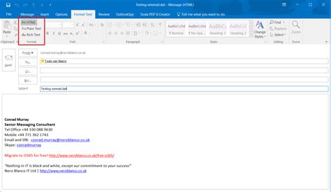 Avoiding and converting winmail