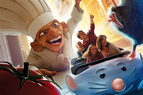 Ratatouille text hints at smells and senses of the ride