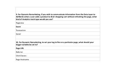 Google tag manager fundamentals question and answer (june