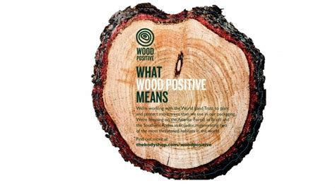 Wood PositiveTM : The Body Shop committed to reforestation