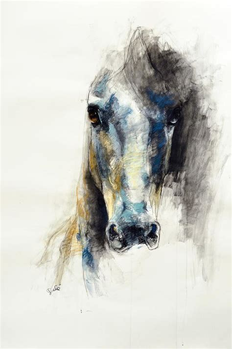 8x12 Photo print of a Horse Head Drawing