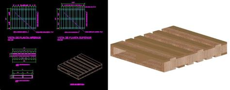 Dimensions of pallets in AutoCAD | Download CAD free (302