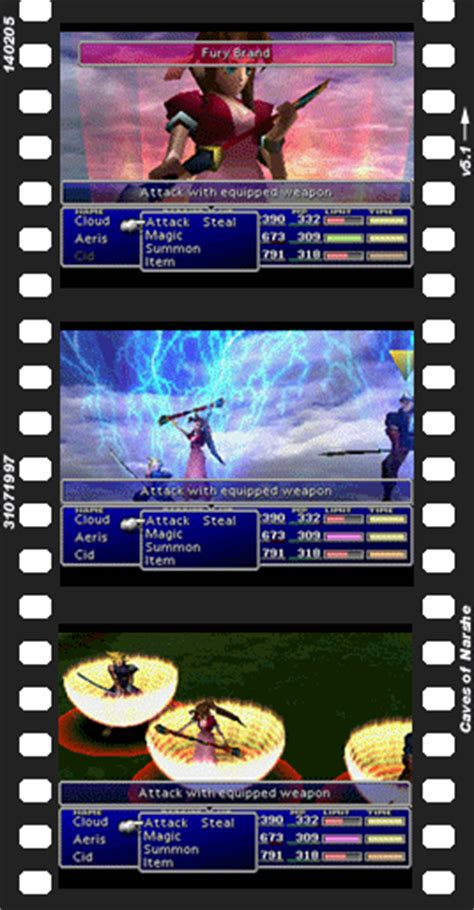 Final Fantasy VII Limit Breaks - Caves of Narshe