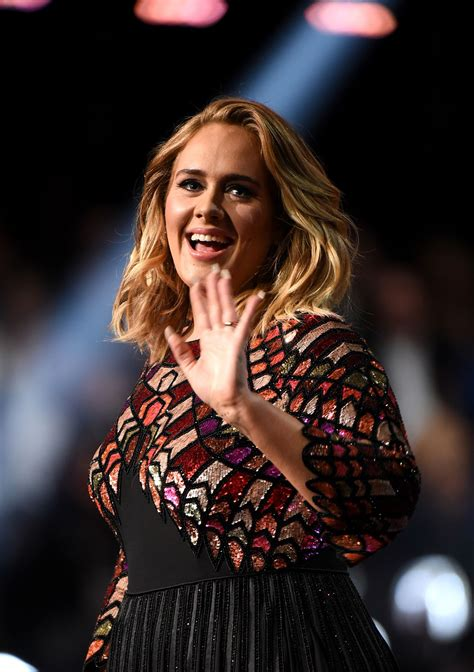 Adele Performs at 59th Annual GRAMMY Awards in Los Angeles